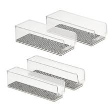 HEXA In Fridge Set of 4 Stackable Refrigerator Bins