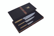 Classic White 3 Piece Chefs Knife Set