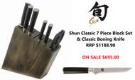 Shun Classic 7 Piece Knife Set & Classic Boning Knife