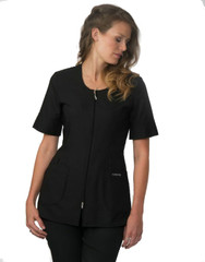 Carolyn Design Feather-Weight Jacket with Round Neckline black