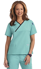 Mobb Criss Cross Scrub Top