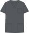 Mobb V-NECK UNISEX SCRUB TOP gray