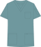 Mobb V-NECK UNISEX SCRUB TOP blue gray