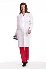 Mobb Full Length Unisex Lab Coat with Buttons
