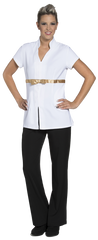Joanne Martin Tunic with Satin Ribbon White