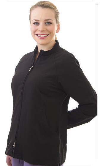 Excel 4-Way Stretch Zip Jacket - Front
