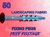 50 Weed Control Fabric Fixing Pegs Landscaping Membrane