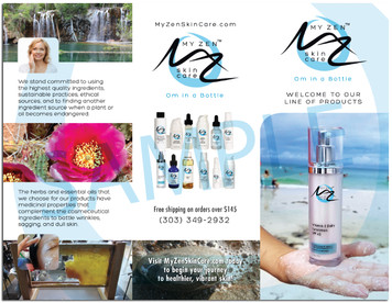 Brochures: Mei Zen Skin Care