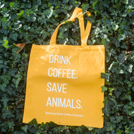 """""""Drink Coffee. Save Animals."""" Tote"""