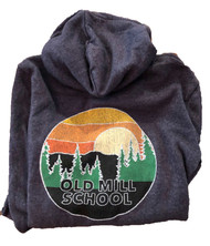 NEW Youth Girls and Boys OMS Hooded Sweatshirt BLUE - Redwood sunset print