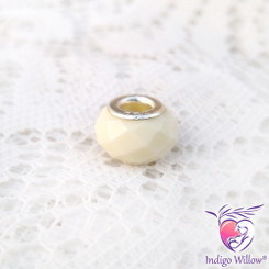Faceted European Breast Milk Bead/Charm