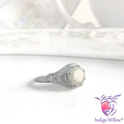 Calypso Solid 14kt White, Yellow, (or) Rose Gold Breast Milk Ring