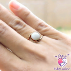 Embrace 10K Solid Rose Gold Breast Milk Ring