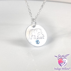 Momma Bear and Cub Necklace