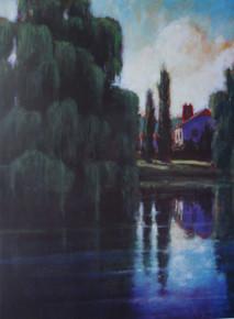 Navarra  Offset Lithograph of original painting by Ken Muenzenmayer  23 x 17