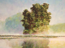 "Lake Pippin Morning  An original acrylic landscape painting by Ken Muenzenmayer  Picture Image Size:  16"" x 20""  Made in Texas USA  Ships in USA only  Ships insured"
