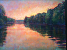 """On the River  An original acrylic painting by Ken Muenzenmayer  Picture image size:  16"""" x 20""""  Ships in USA only"""