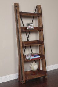 33200K Industrial Open Shelf Ladder Bookcase