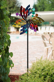 Polka Dot Plume Wind Spinner