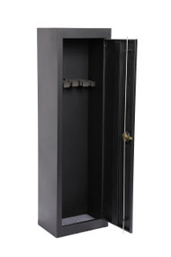 American Furniture Classics Model 901, Space Saving 5 Gun Metal Security Cabinet