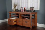 Industrial Collection Credenza Console with three large file drawers