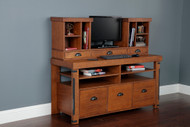 Industrial Collection Credenza Console and Hutch Bundle