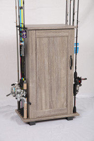 Tuff Stor by American Furniture Classics Fishing Storage and Organization Cabinet in Woodgrain Laminate