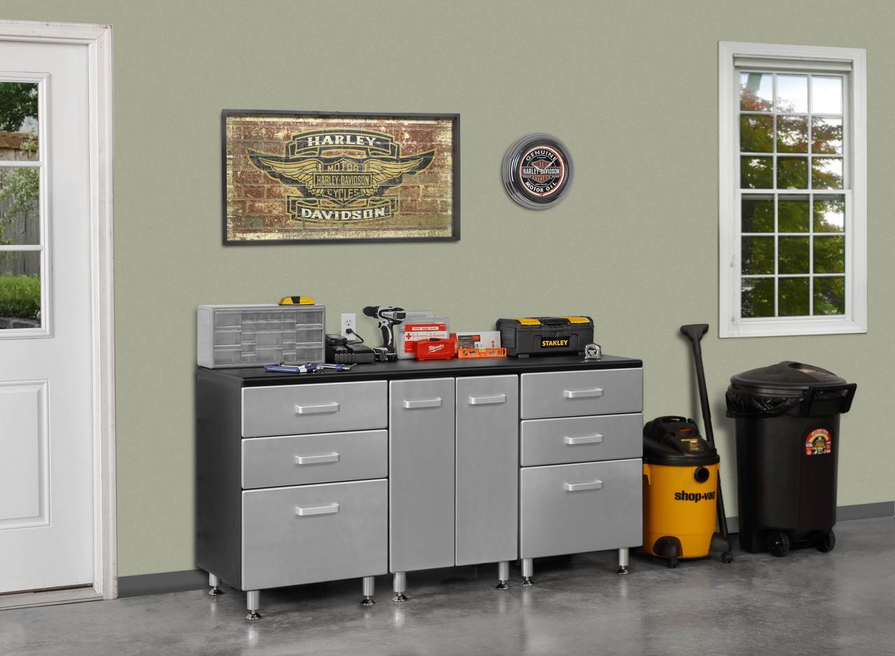 Awe Inspiring Tuff Stor Model 24209K 71 Inch Wide Work Bench With Six Sturdy Drawers And Two Door Storage Cabinet Machost Co Dining Chair Design Ideas Machostcouk