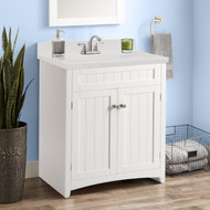 OS Home and Office Furniture Bathroom Vanity Cabinet with Resin Basin