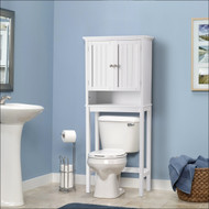 OS Home and Office Furniture Bathroom Space Saver over toilet Storage Cabinet with two Doors