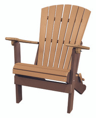 OS Home Model 519CTB Fan Back Folding Adirondack Chair Made in the USA- Cedar, Tudor Brown