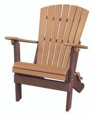 OS Home Model 519CTB Fan Back Folding Adirondack Chair Made in the USA- Cedar, Tudor Brown