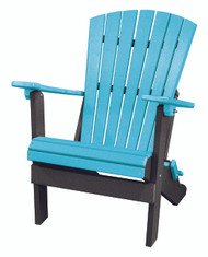 OS Home Model 519ARB Fan Back Folding Adirondack Chair Made in the USA- Aruba, Black