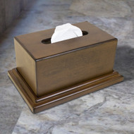 American Furniture Classics Model 434 Decorative Wood Tissue Box with Hidden Gun Concealment Compartment