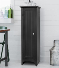 OS Home and Office One Door Kitchen Storage Pantry in Black