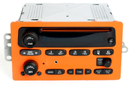 05-09 Chevy Truck Radio CD w Aux Input Pumpkin Orange Black Halloween - 15850275