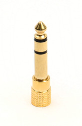 3.5 mm to 6.35 mm Adapter Female to Male Stereo Audio 1/8 to 1/4 Converter Gold