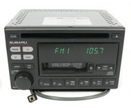 00-02 Subaru Legacy AM FM Radio CD Cassette with Aux Input 86201AE12A Face P121