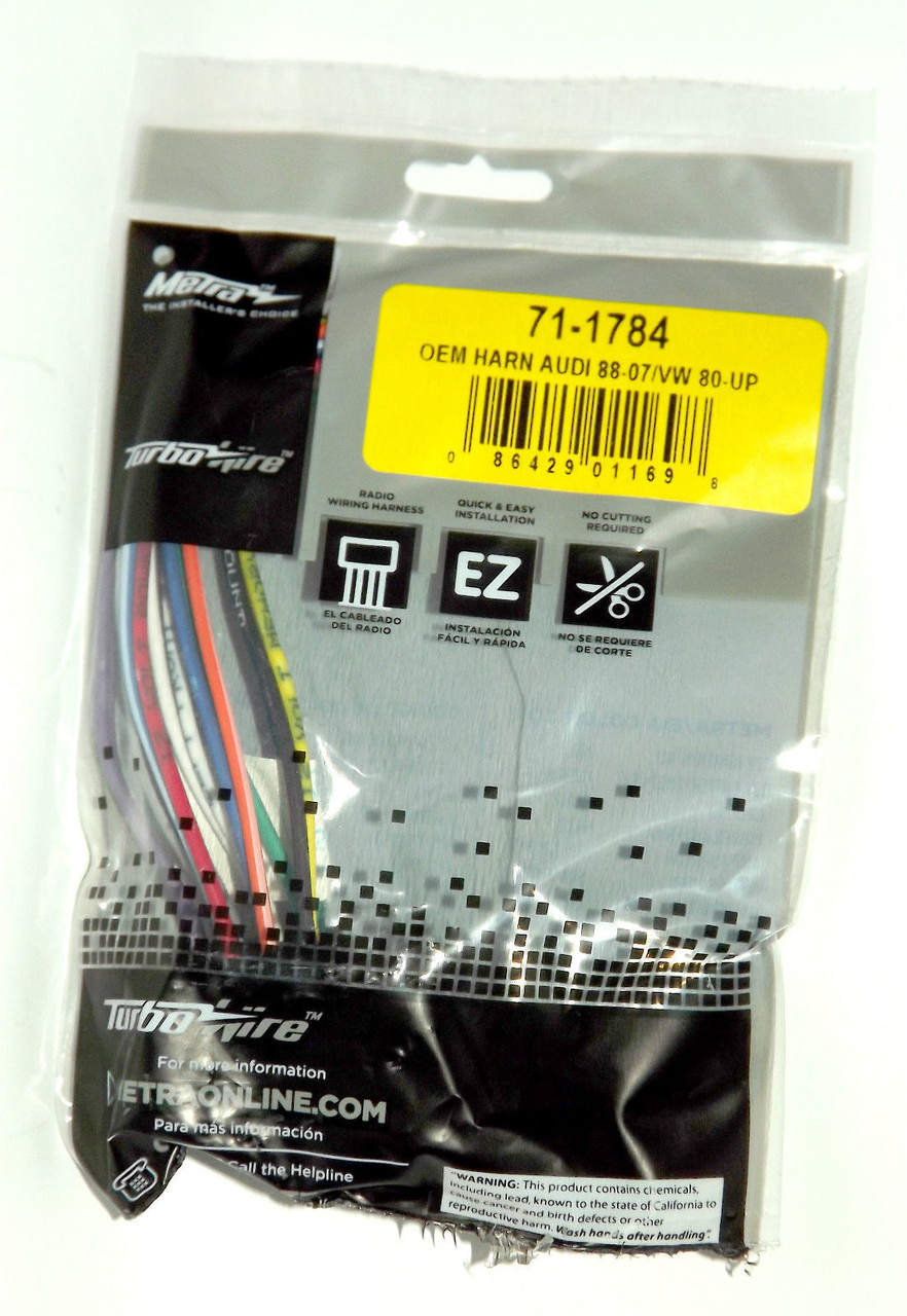 OEM Wire Harness Metra Turbowire for Audi Volkswagen 1986-12 Part Number 71-1784