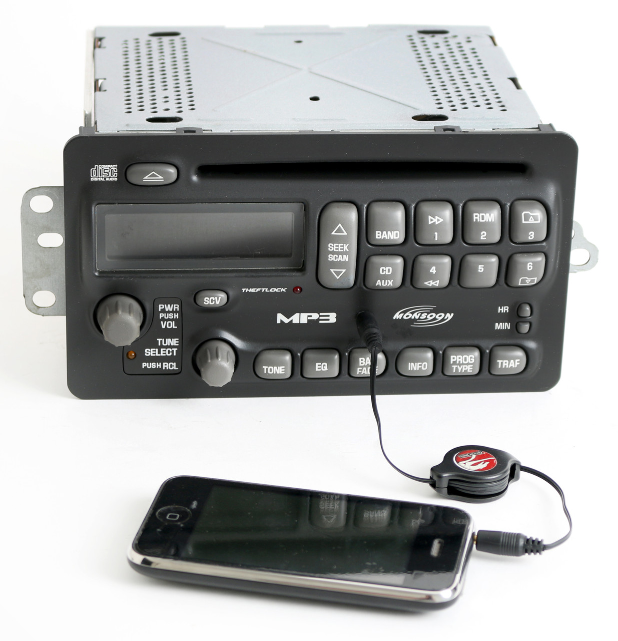 1 Factory Radio AM FM CD Player w Aux Input Compatible With 2000-01 Pontiac Sunfire Grand AM 10311742