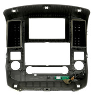 2009-2012 Nissan Frontier Single Radio Climate Cluster Panel Bezel 68261 9BH0D