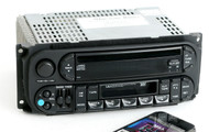 Dodge Jeep Chrysler 02-06 AM FM CD Cassette w Bluetooth Music P05091605AC - RAZ
