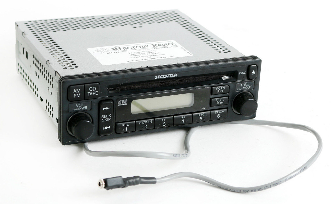 Honda Accord 2001-02 Radio AM FM CD Aux Input On Pigtail W