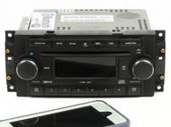 2004-10 Jeep Dodge Chrysler AM FM 6 CD Player Radio w Bluetooth RAQ P05064072AF