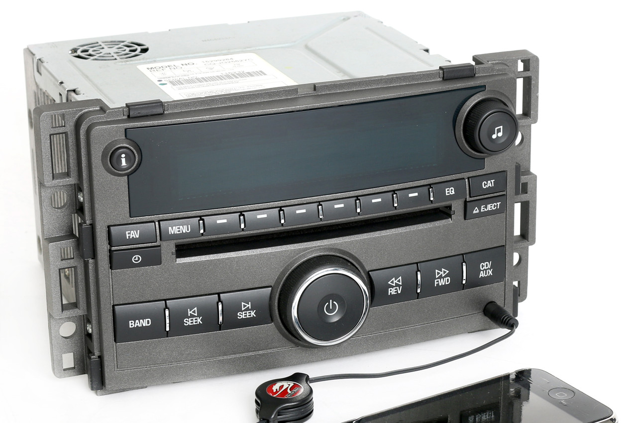 Chevy Hhr 2006-2008 Gray Radio Am Fm Cd Player W Auxiliary Input 15299284