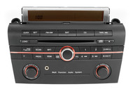 Mazda 2005 3 AM FM Single Disc CD Player with Auxiliary Input Upgrade BN8K669R0