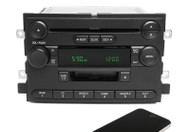 04 Ford F-150 AM FM Cassette CD Player Radio w Bluetooth Upgrade 4L3T-18C868-FD