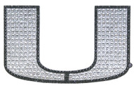 "ProMark NCAA University of Miami ""U"" Chrome Bling Auto Emblem Decal BEU034"