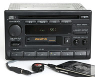 Acura TL 1995-1998 Radio AM FM Cassette CD w Aux Input 39100-SW5-A000 Face 1111