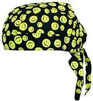 Vega Helmets Head Wrap With Smiley Face Graphics One Size Fits Most 91-9901-01